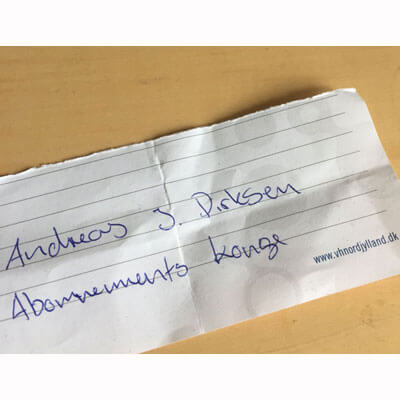 Abonnementskongen Andreas J Dirksen
