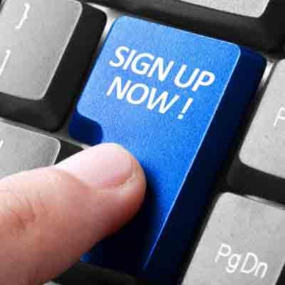 Sign Up bogen om abonnement